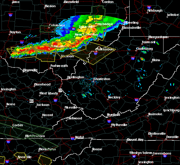 Radar Image for Severe Thunderstorms near Parkersburg, WV at 7/14/2015 3:55 PM EDT