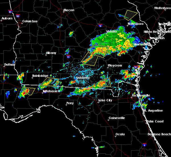 Radar Image for Severe Thunderstorms near Valdosta, GA at 7/14/2015 4:09 PM EDT