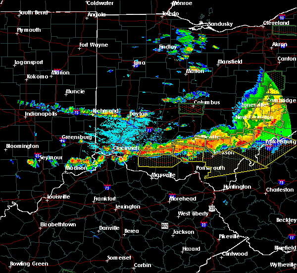 Radar Image for Severe Thunderstorms near Winchester, OH at 7/14/2015 4:12 PM EDT