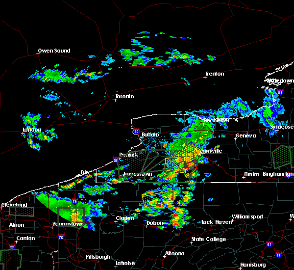 Radar Image for Severe Thunderstorms near Houghton, NY at 7/14/2015 4:22 PM EDT