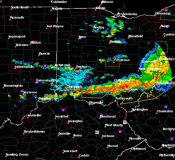 Radar Image for Severe Thunderstorms near Hamersville, OH at 7/14/2015 4:23 PM EDT