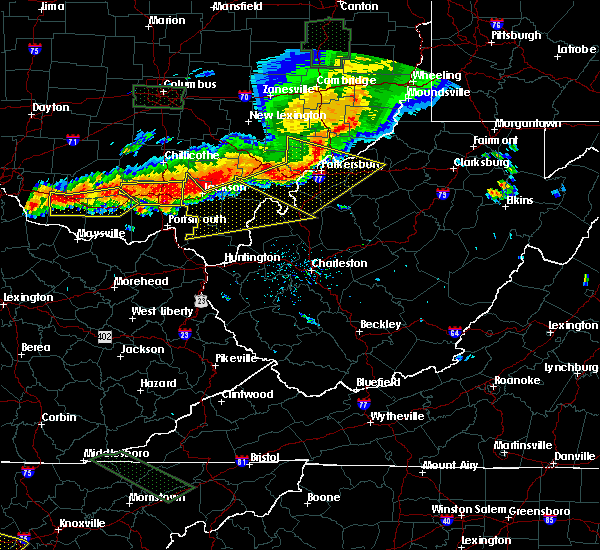 Radar Image for Severe Thunderstorms near Parkersburg, WV at 7/14/2015 4:24 PM EDT
