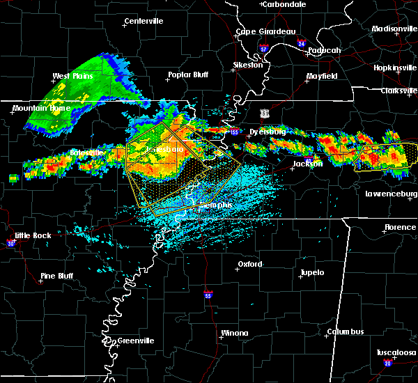 Radar Image for Severe Thunderstorms near Memphis, TN at 7/14/2015 3:26 PM CDT