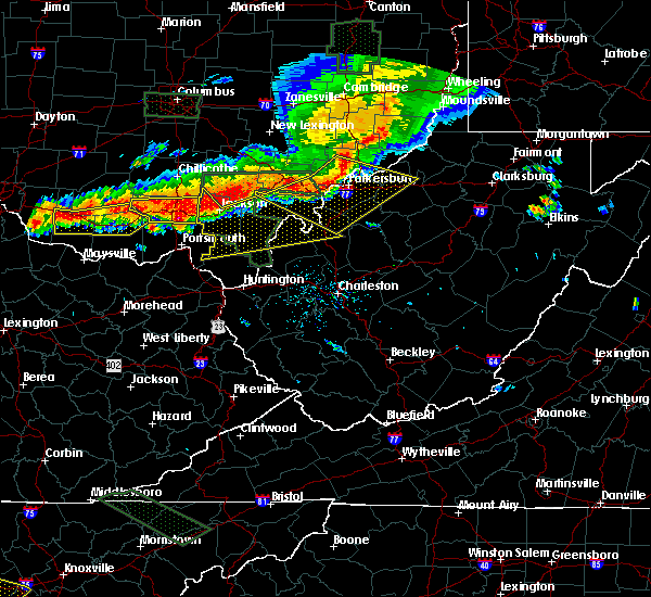 Radar Image for Severe Thunderstorms near Gallipolis, OH at 7/14/2015 4:30 PM EDT