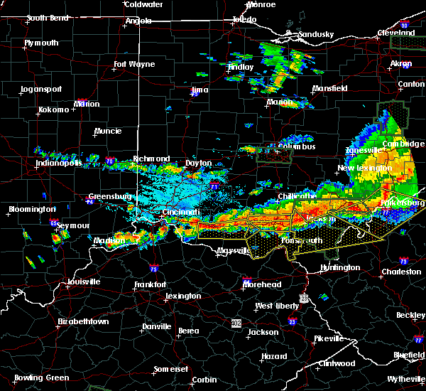 Radar Image for Severe Thunderstorms near Otway, OH at 7/14/2015 4:30 PM EDT