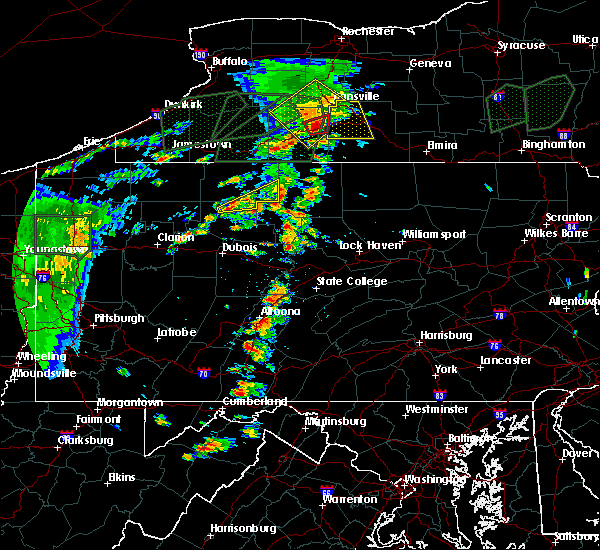 Radar Image for Severe Thunderstorms near Wilcox, PA at 7/14/2015 4:34 PM EDT
