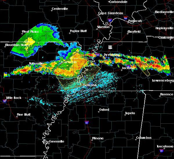 Radar Image for Severe Thunderstorms near Memphis, TN at 7/14/2015 3:40 PM CDT