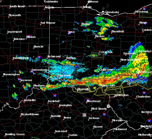 Radar Image for Severe Thunderstorms near Otway, OH at 7/14/2015 4:44 PM EDT
