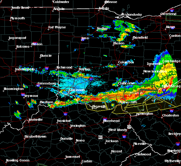 Radar Image for Severe Thunderstorms near West Union, OH at 7/14/2015 4:54 PM EDT
