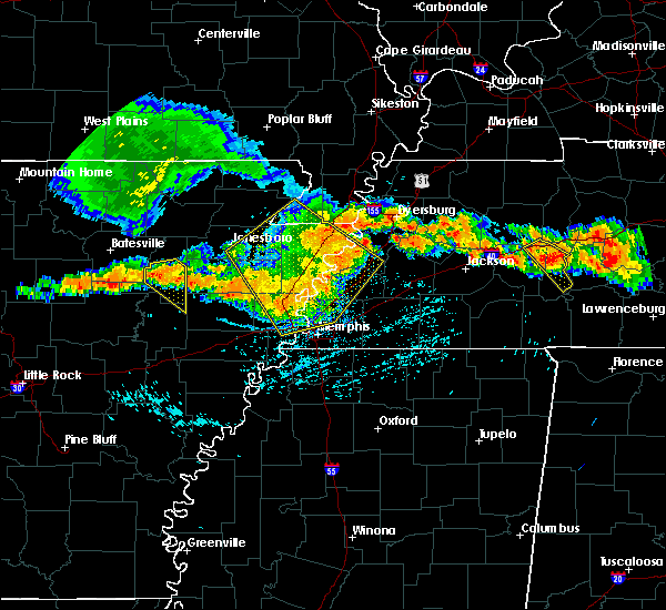 Radar Image for Severe Thunderstorms near Memphis, TN at 7/14/2015 3:55 PM CDT