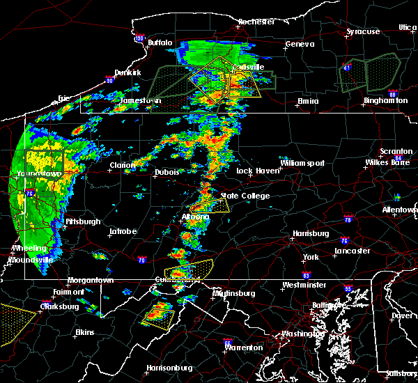 Radar Image for Severe Thunderstorms near Tyrone, PA at 7/14/2015 4:54 PM EDT