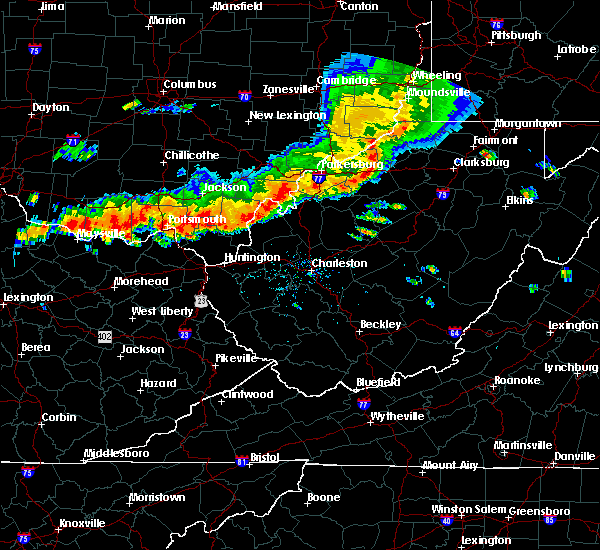 Radar Image for Severe Thunderstorms near Gallipolis, OH at 7/14/2015 5:09 PM EDT