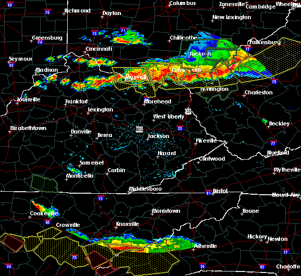 Radar Image for Severe Thunderstorms near Sardis, KY at 7/14/2015 5:12 PM EDT