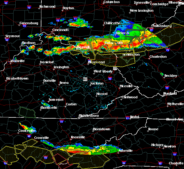 Radar Image for Severe Thunderstorms near Huntington, WV at 7/14/2015 5:17 PM EDT
