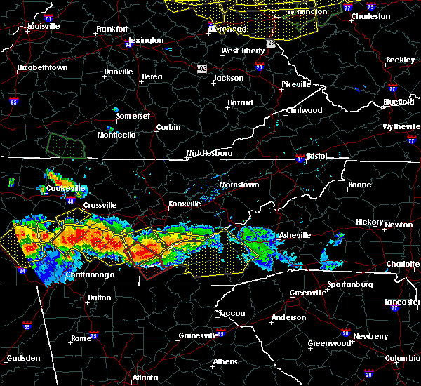 Radar Image for Severe Thunderstorms near Tellico Plains, TN at 7/14/2015 5:18 PM EDT