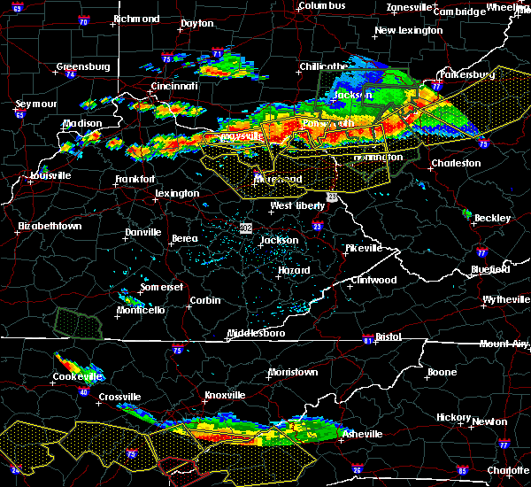 Radar Image for Severe Thunderstorms near Huntington, WV at 7/14/2015 5:20 PM EDT