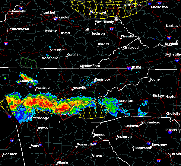 Radar Image for Severe Thunderstorms near Waynesville, NC at 7/14/2015 5:23 PM EDT