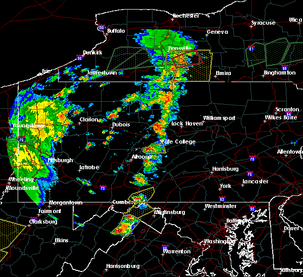 Radar Image for Severe Thunderstorms near State College, PA at 7/14/2015 5:23 PM EDT