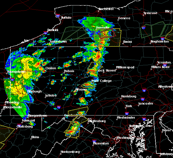 Radar Image for Severe Thunderstorms near South Renovo, PA at 7/14/2015 5:28 PM EDT