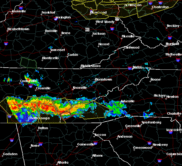 Radar Image for Severe Thunderstorms near Hayesville, NC at 7/14/2015 5:32 PM EDT