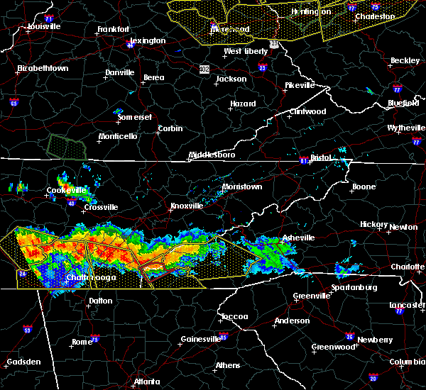 Radar Image for Severe Thunderstorms near Waynesville, NC at 7/14/2015 5:34 PM EDT