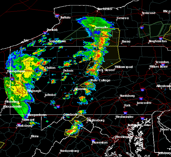 Radar Image for Severe Thunderstorms near Roseville, PA at 7/14/2015 5:35 PM EDT