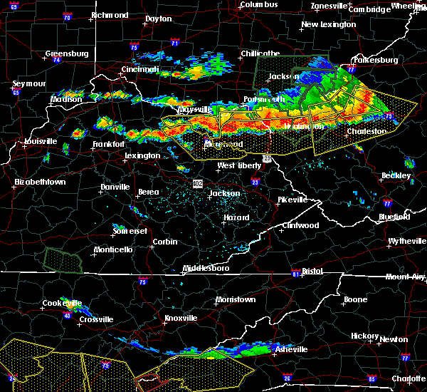 Radar Image for Severe Thunderstorms near Morehead, KY at 7/14/2015 5:39 PM EDT