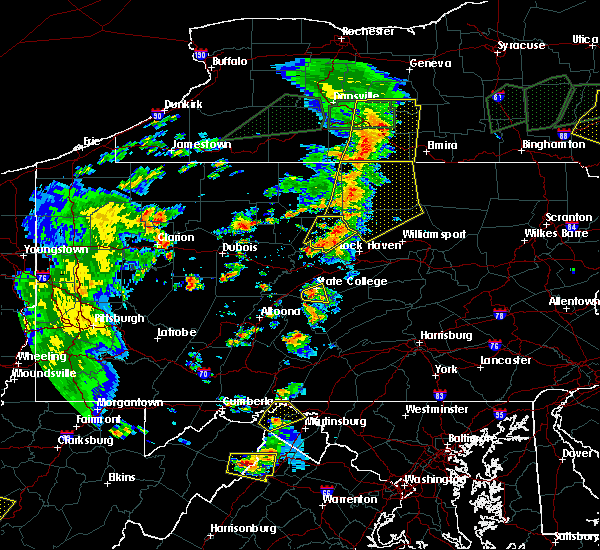 Radar Image for Severe Thunderstorms near State College, PA at 7/14/2015 5:43 PM EDT