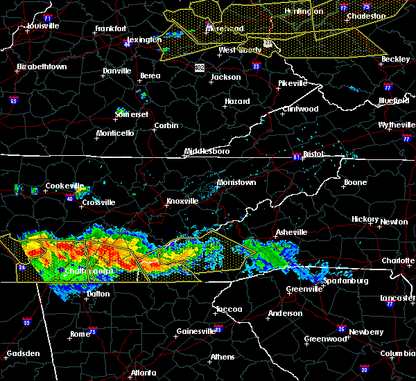 Radar Image for Severe Thunderstorms near Murphy, NC at 7/14/2015 5:50 PM EDT