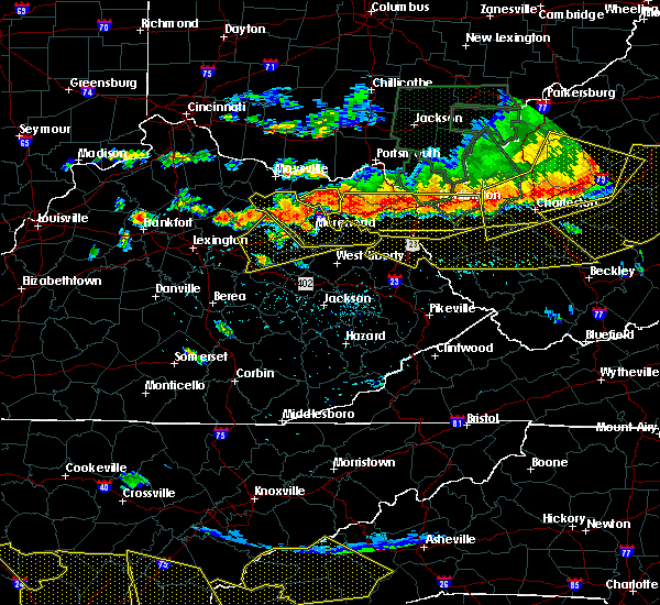 Radar Image for Severe Thunderstorms near Morehead, KY at 7/14/2015 5:57 PM EDT