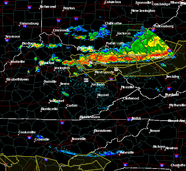 Radar Image for Severe Thunderstorms near Morehead, KY at 7/14/2015 6:04 PM EDT