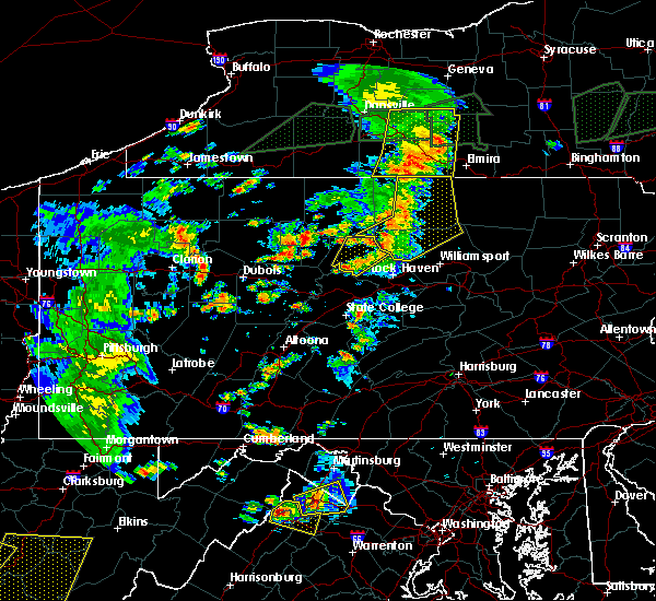 Radar Image for Severe Thunderstorms near Roseville, PA at 7/14/2015 6:05 PM EDT