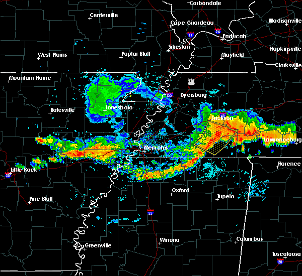 Radar Image for Severe Thunderstorms near Senatobia, MS at 7/14/2015 5:04 PM CDT