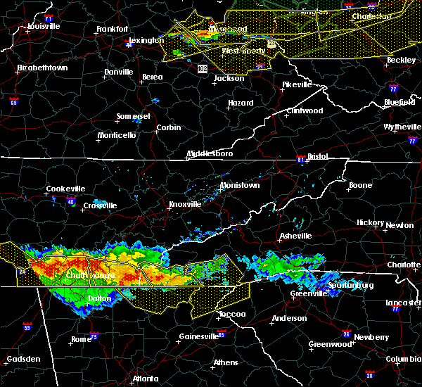 Radar Image for Severe Thunderstorms near Hayesville, NC at 7/14/2015 6:08 PM EDT