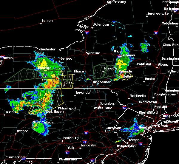 Radar Image for Severe Thunderstorms near Waverly, NY at 7/14/2015 6:09 PM EDT