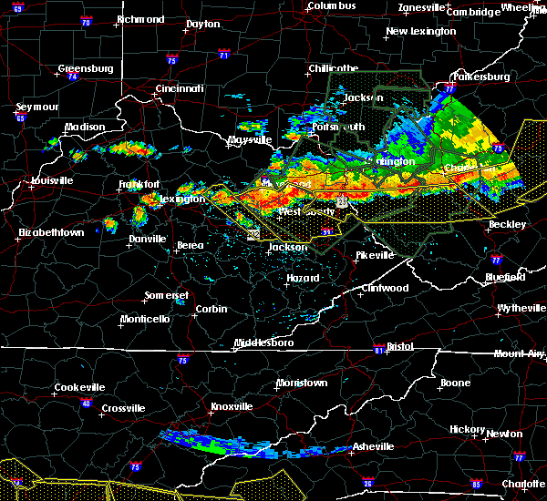 Radar Image for Severe Thunderstorms near Morehead, KY at 7/14/2015 6:30 PM EDT