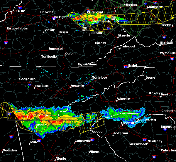 Radar Image for Severe Thunderstorms near Hayesville, NC at 7/14/2015 6:34 PM EDT