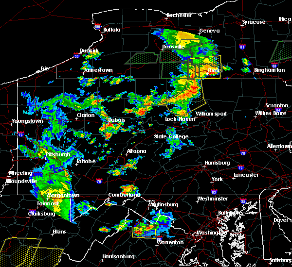Radar Image for Severe Thunderstorms near Roseville, PA at 7/14/2015 6:43 PM EDT