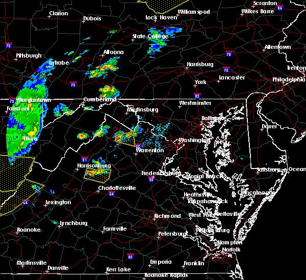 Radar Image for Severe Thunderstorms near Marshall, VA at 7/14/2015 6:47 PM EDT