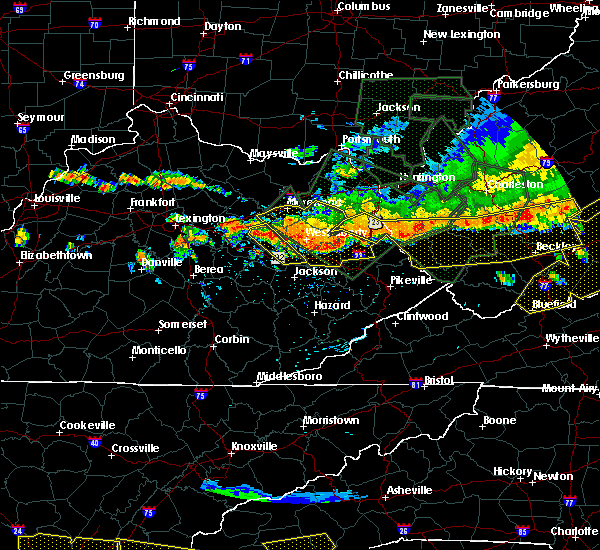 Radar Image for Severe Thunderstorms near Warfield, KY at 7/14/2015 6:50 PM EDT