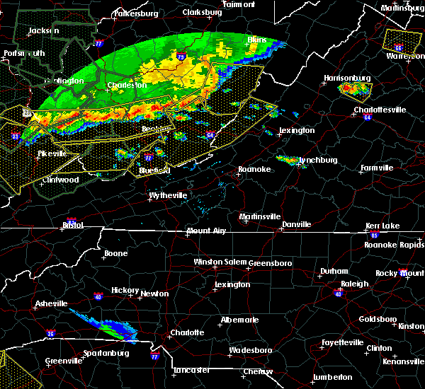 Radar Image for Severe Thunderstorms near Warm Springs, VA at 7/14/2015 7:05 PM EDT