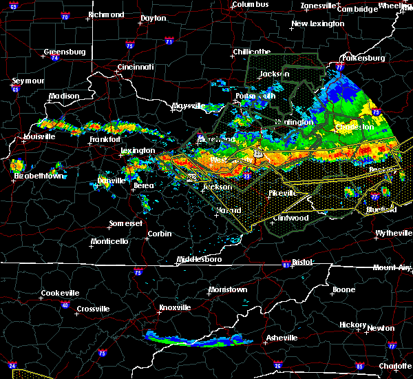 Radar Image for Severe Thunderstorms near Stanton, KY at 7/14/2015 7:11 PM EDT