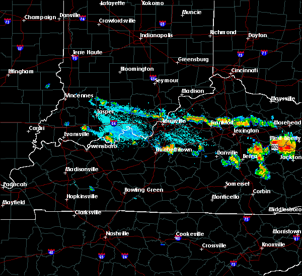 Radar Image for Severe Thunderstorms near Loretto, KY at 7/14/2015 7:14 PM EDT