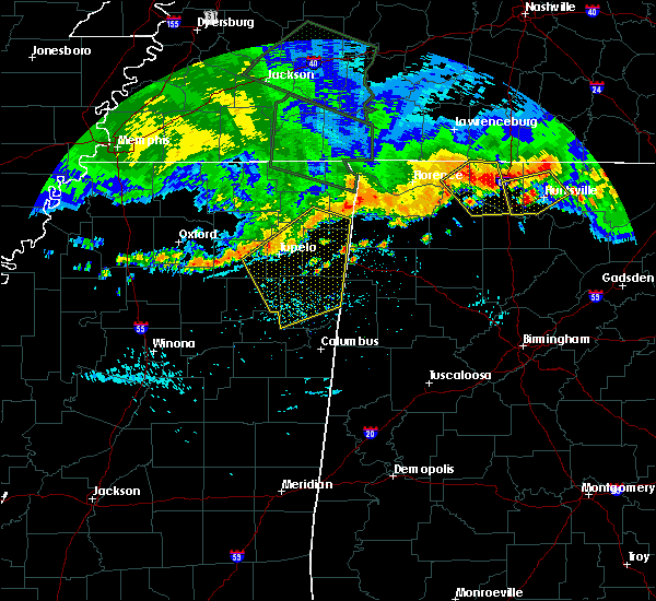 Radar Image for Severe Thunderstorms near Hatton, AL at 7/14/2015 6:26 PM CDT