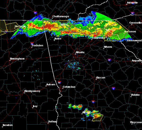 Radar Image for Severe Thunderstorms near Canton, GA at 7/14/2015 7:29 PM EDT