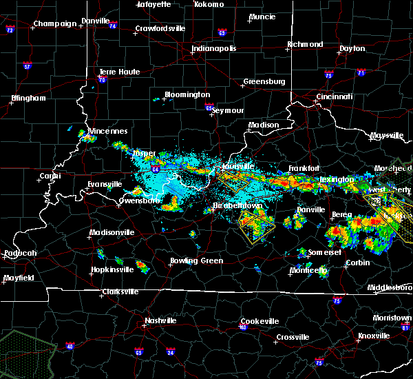 Radar Image for Severe Thunderstorms near Bradfordsville, KY at 7/14/2015 7:40 PM EDT