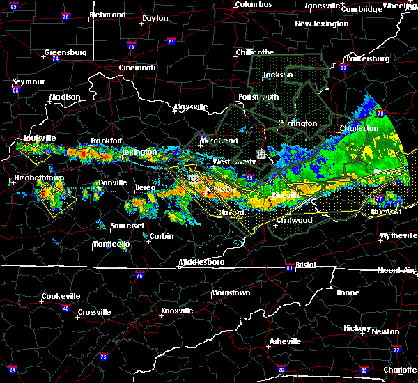 Radar Image for Severe Thunderstorms near Hindman, KY at 7/14/2015 7:43 PM EDT