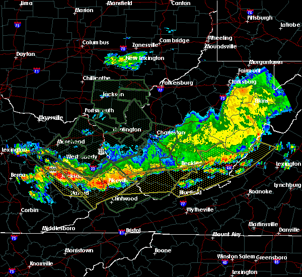Radar Image for Severe Thunderstorms near Red Jacket, WV at 7/14/2015 7:44 PM EDT