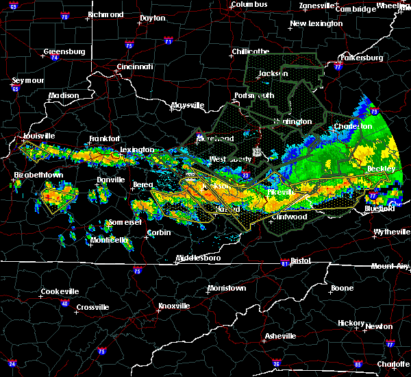 Radar Image for Severe Thunderstorms near McKee, KY at 7/14/2015 7:50 PM EDT