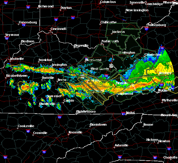 Radar Image for Severe Thunderstorms near Benham, KY at 7/14/2015 7:58 PM EDT